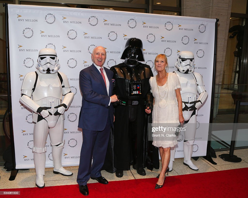 Chairman of the Board Oscar Schafer (L) and Didi Schafer attend the New York Philharmonic Spring Gala - A John Williams Celebration held at David Geffen Hall on May 24, 2016 in New York City.