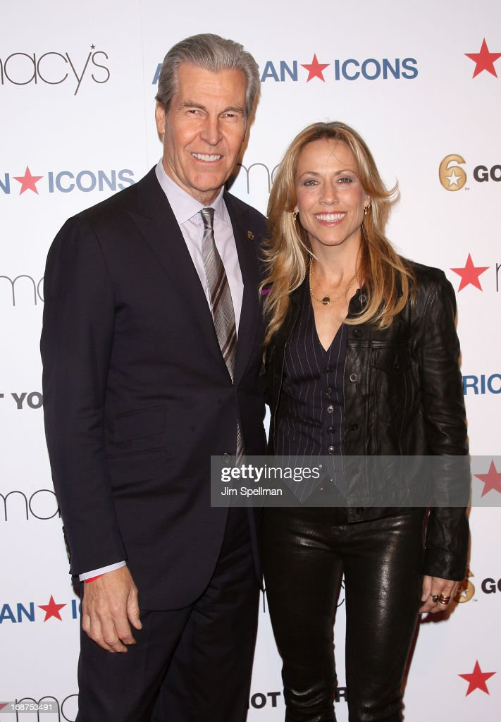 CEO, Chairman of the Board, President, and Director at Macy's, Inc Terry J. Lundgren and musician <a gi-track='captionPersonalityLinkClicked' href=/galleries/search?phrase=Sheryl+Crow&family=editorial&specificpeople=201867 ng-click='$event.stopPropagation()'>Sheryl Crow</a> attends Macy's 'American Icons' Campaign Launch at Gotham Hall on May 14, 2013 in New York City.