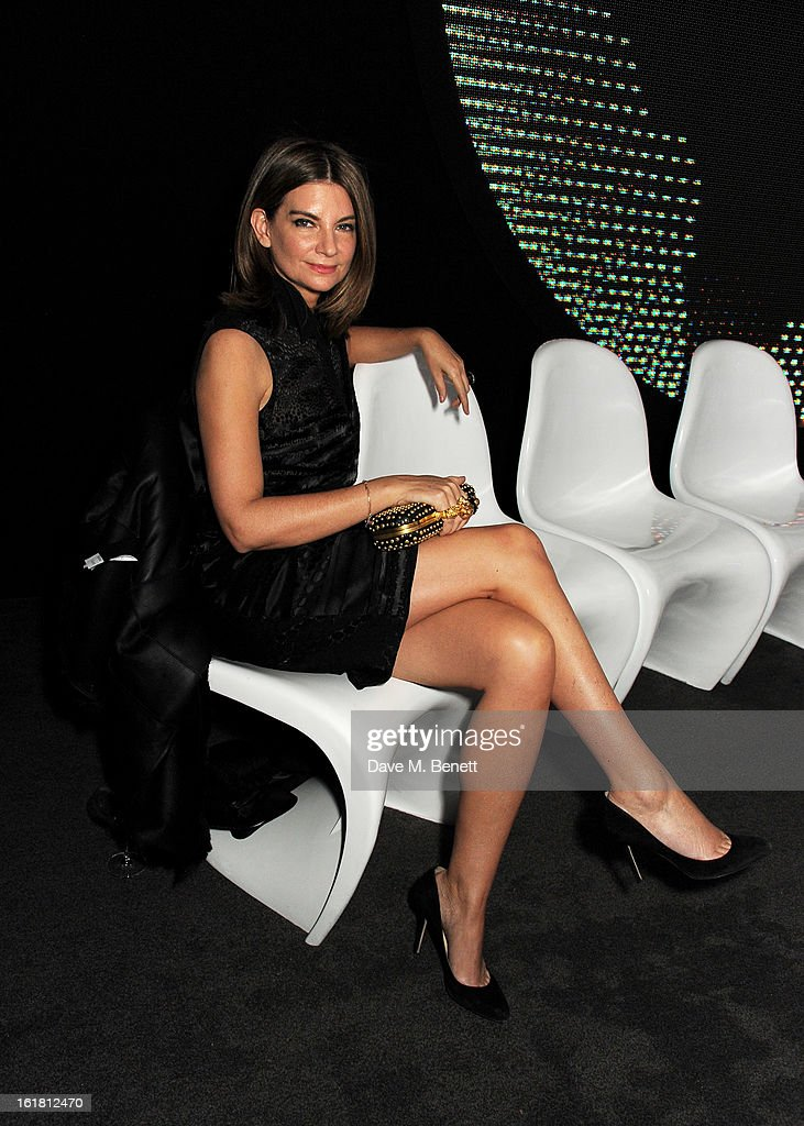 Chairman of the British Fashion Council <a gi-track='captionPersonalityLinkClicked' href=/galleries/search?phrase=Natalie+Massenet&family=editorial&specificpeople=2118990 ng-click='$event.stopPropagation()'>Natalie Massenet</a> attends the 2013 International Woolmark Prize Final at ME London on February 16, 2013 in London, England.