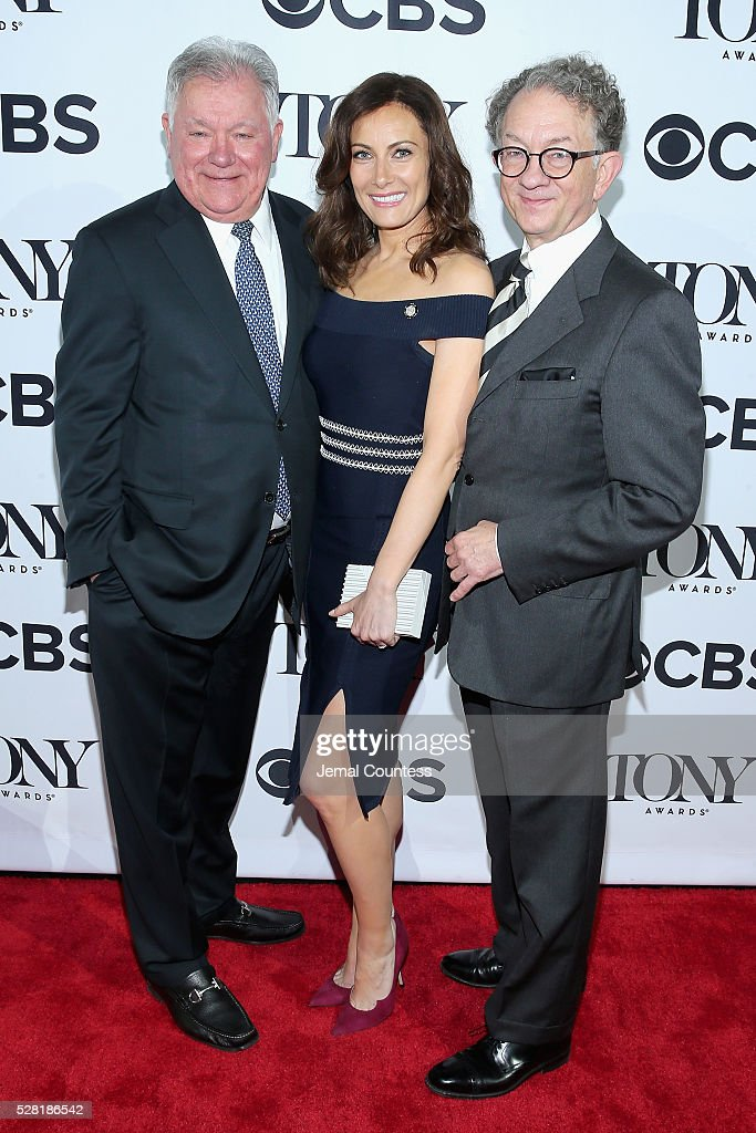 Chairman of the Broadway League Robert Wankel, actress <a gi-track='captionPersonalityLinkClicked' href=/galleries/search?phrase=Laura+Benanti&family=editorial&specificpeople=657897 ng-click='$event.stopPropagation()'>Laura Benanti</a>, and Chairman of the Board for the American Theatre Wing <a gi-track='captionPersonalityLinkClicked' href=/galleries/search?phrase=William+Ivey+Long&family=editorial&specificpeople=1794786 ng-click='$event.stopPropagation()'>William Ivey Long</a> attend the 2016 Tony Awards Meet The Nominees Press Reception on May 4, 2016 in New York City.