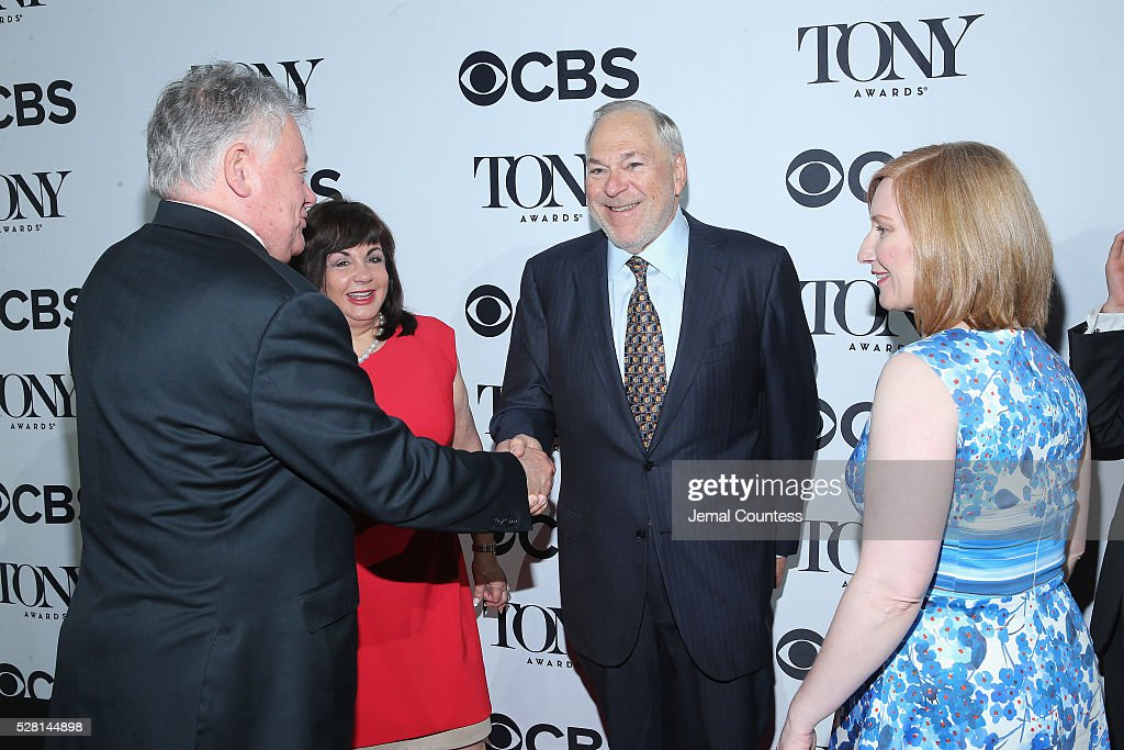 Chairman of the Broadway League Robert Wankel, President of The Broadway League <a gi-track='captionPersonalityLinkClicked' href=/galleries/search?phrase=Charlotte+St.+Martin&family=editorial&specificpeople=3987977 ng-click='$event.stopPropagation()'>Charlotte St. Martin</a>, Chief Operating Officer and Executive Vice President of Key Brand Entertainment, Inc. Miles Wilkin, and President of the American Theatre Wing Heather Hitchens attend the 2016 Tony Awards Meet The Nominees Press Reception on May 4, 2016 in New York City.