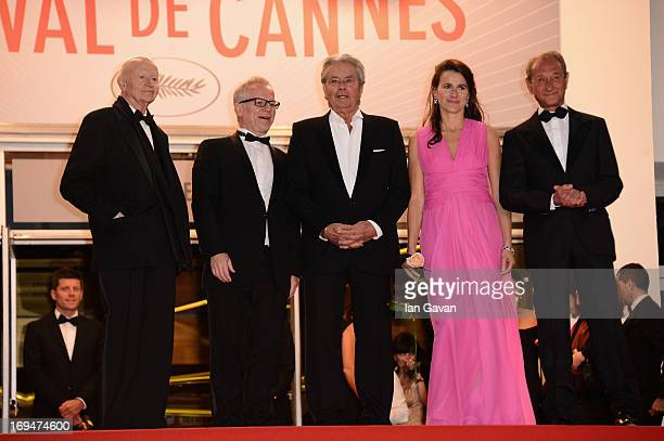 Chairman of the Cannes Film Festival Gilles Jacob Cannes Film Festival artistic director Thierry Fremaux Bertrand Delanoe Aurelie Filippetti and...