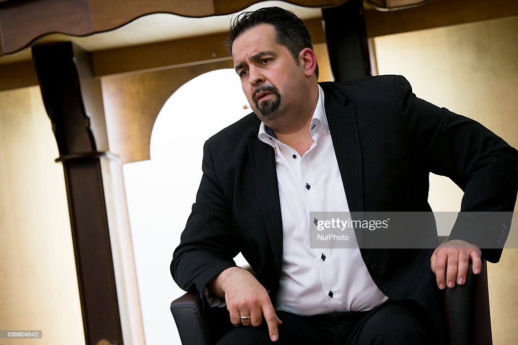 Chairman of the Central Council of Muslims in Germany (ZMD, Zentralrat der Muslime in Deutschland) Aiman Mazyek is pictured during the event 'Toghether against racism' at the Dar Assalam mosque in Berlin on May 30, 2016.