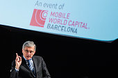 Chairman of the Federal Communications Commission Tom Wheeler speaks during his keynote conference during the second day of the Mobile World Congress...