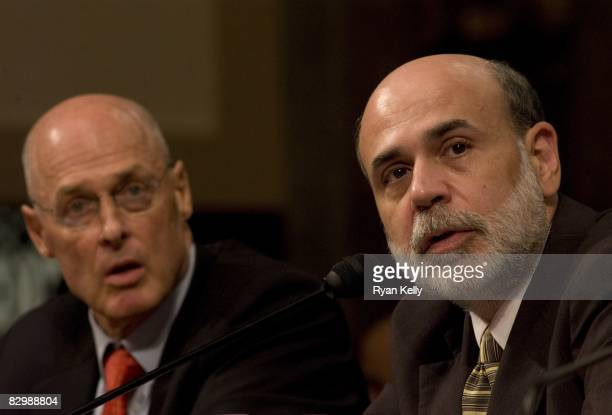 Chairman of the Federal Reserve Ben S Bernake testifies before the Senate Banking Housing and Urban Affairs Committee on legislation to address the...