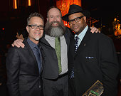 Chairman of the GRAMMY Foundation Rusty Rueff Kent Knappenberger and Jimmy Jam attend the Special Merit Awards Ceremony as part of the 56th GRAMMY...