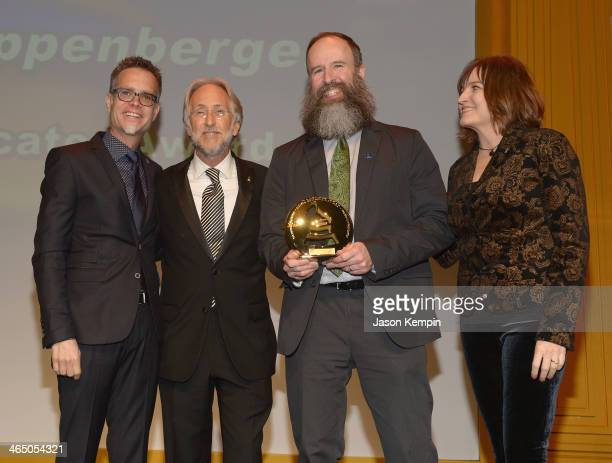 Chairman of the GRAMMY Foundation Rusty Rueff The Recording Academy president/CEO Neil Portnow Kent Knappenberger and Chair of the National Recording...