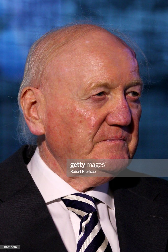 Chairman of the Grand Prix Corporation Ron Walker looks on during the 2013 Formula One Australian Grand Prix Launch on February 5, 2013 in Melbourne, Australia.