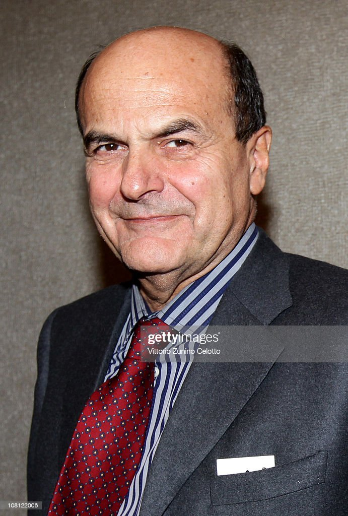 Chairman of the Italian Democratic Party <a gi-track='captionPersonalityLinkClicked' href=/galleries/search?phrase=Pier+Luigi+Bersani&family=editorial&specificpeople=4182508 ng-click='$event.stopPropagation()'>Pier Luigi Bersani</a> attends 'Il futuro e di tutti ma e uno solo' book presentation held at Casa della cultura on January 18, 2011 in Milan, Italy.