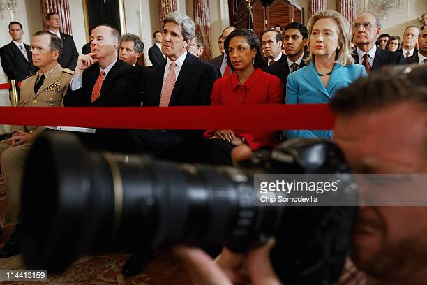 Chairman of the Joint Chiefs of Staff Admiral Mike Mullen National Security Adviser Tom Donlion Sen John Kerry UN Ambassador Susan Rice Secretary of...