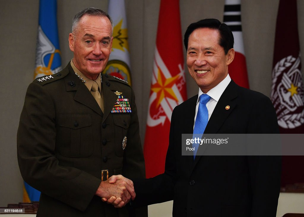 Chairman Of The Joint Chiefs Joseph Dunford Visits South Korea