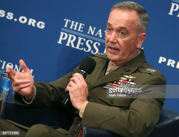 Chairman of the Joint Chiefs of Staff Gen Joseph Dunford speaks at the National Press Club on June 19 2017 Dunford discussed issues regarding the US...