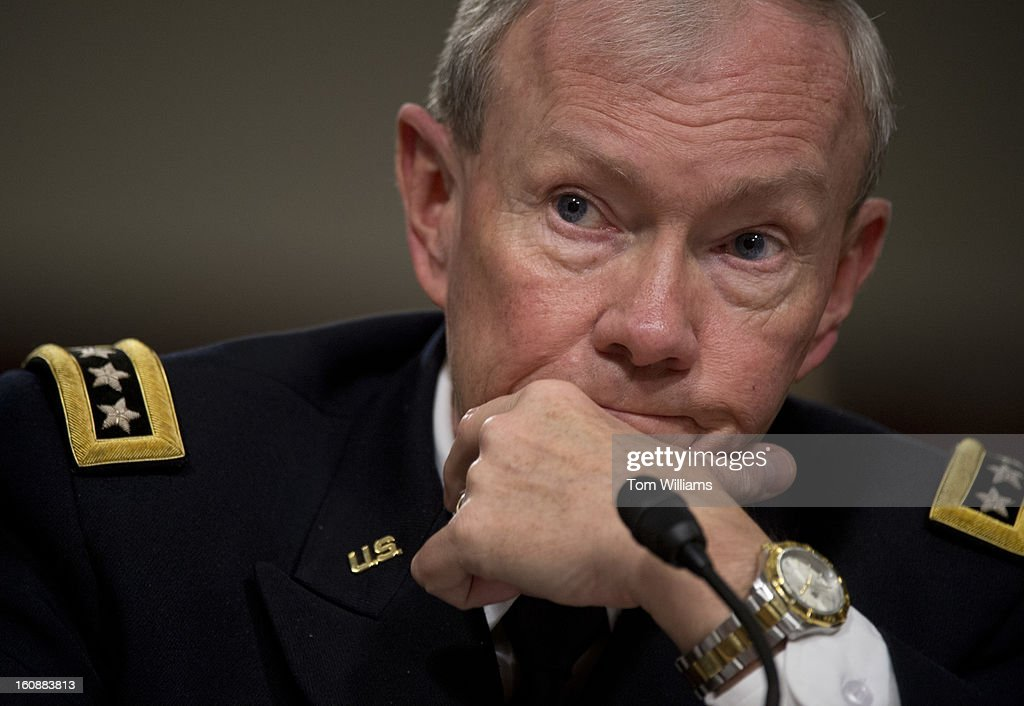 Chairman of the Joint Chiefs of Staff Gen. Martin Dempsey, testifies before a Senate Armed Services Committee hearing on the Defense Department's response to the attack on U.S. embassy in Benghazi, Libya, and discuss the findings of its internal review of the attack. Secretary of Defense Leon Panetta also testified.