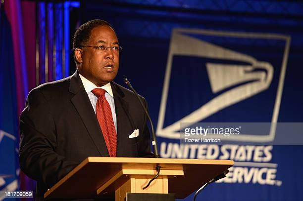 Chairman of the Los Angeles CountyBboard of Supervisors Mark RidleyThomas speaks at the unveiling of the new Ray Charles stamp at the GRAMMY Museum...