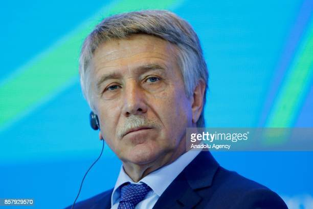Chairman of the Management Board and Member of the Board of Directors of NOVATEK Leonid Mikhelson attends a panel titled ''The Russian Fuel and...