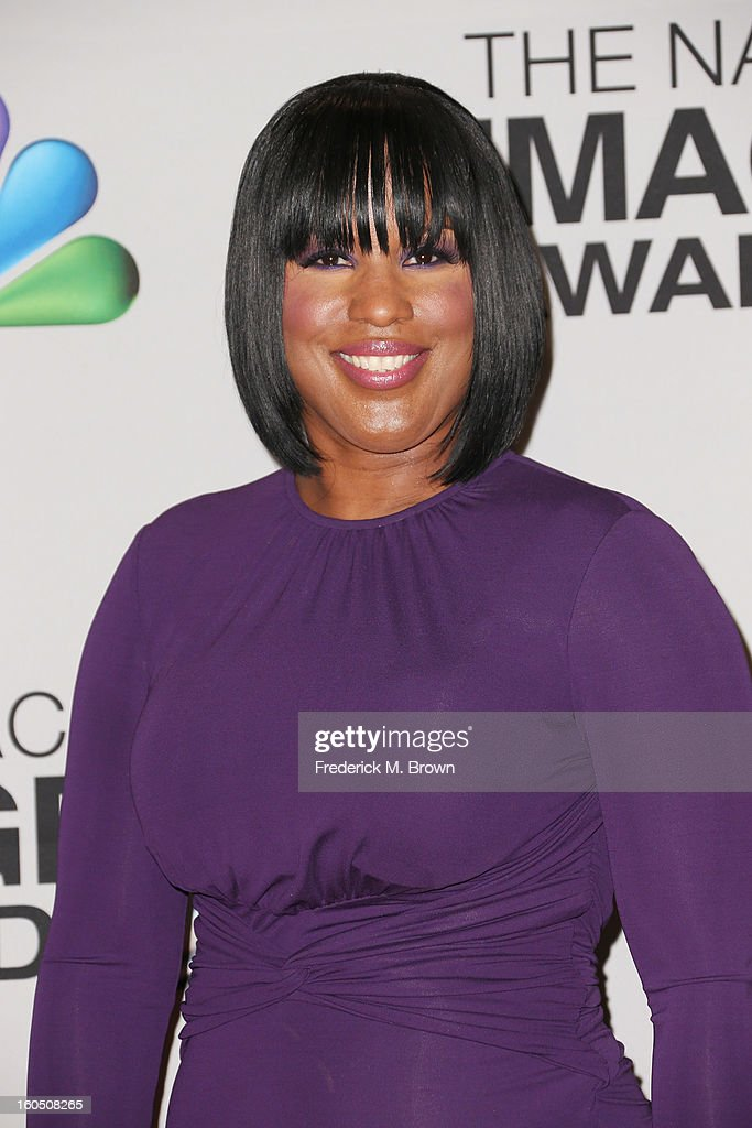 Chairman of the National Board of Directors Roslyn M. Brock poses in the press room during the 44th NAACP Image Awards at The Shrine Auditorium on February 1, 2013 in Los Angeles, California.
