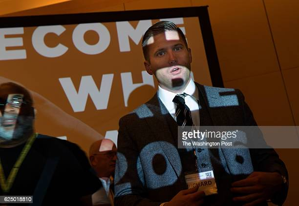 Chairman of the National Policy Institute Richard Spencer navigates media requests at an Alt Right conference hosted by the Institute in Washington...