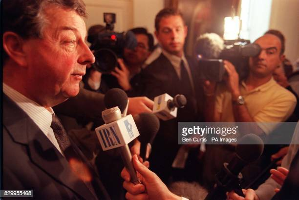 Chairman of the Press Complaints Commission Lord Wakeham speaks to the media during a news conference held today to announce his proposed rewrite of...