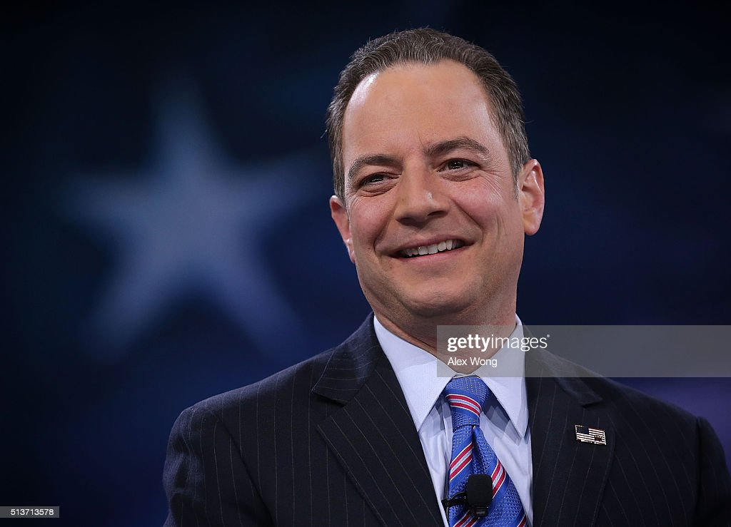 Chairman of the Republican National Committee <a gi-track='captionPersonalityLinkClicked' href=/galleries/search?phrase=Reince+Priebus&family=editorial&specificpeople=7419119 ng-click='$event.stopPropagation()'>Reince Priebus</a> participates in a discussion during CPAC 2016 March 4, 2016 in National Harbor, Maryland. The American Conservative Union hosted its annual Conservative Political Action Conference to discuss conservative issues.