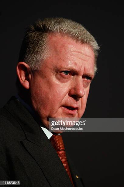 Chairman of the SportAccord Convention Hein Verbruggen speaks after the 2018 Olympics Winter Games bid presentation for Pyeongchang at the Park Plaza...
