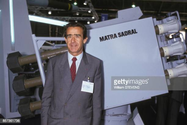Chairman of the Supervisory Board of Aerospatiale Matra JeanLuc Lagardere visits the Navy Fair on October 24 1988 in Paris France