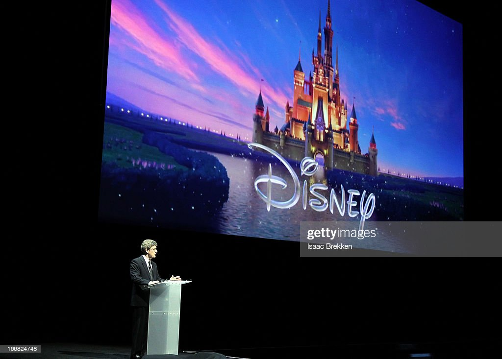 Chairman of The Walt Disney Studios <a gi-track='captionPersonalityLinkClicked' href=/galleries/search?phrase=Alan+Horn&family=editorial&specificpeople=213386 ng-click='$event.stopPropagation()'>Alan Horn</a> speaks at The Walt Disney Studios Motion Pictures presentation at Caesars Palace during CinemaCon, the official convention of the National Association of Theatre Owners on April 17, 2013 in Las Vegas, Nevada.