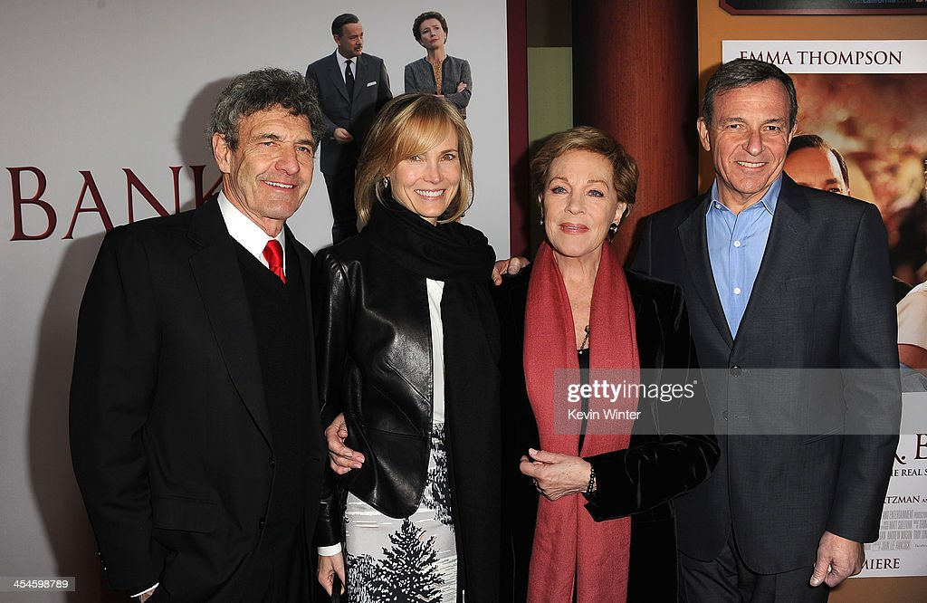 Chairman of the Walt Disney Studios Alan Horn, Willow Bay, actress Julie Andrews and Chairman and Chief Executive of The Walt Disney Company Bob Iger attend the U.S. premiere of Disney's 'Saving Mr. Banks', the untold backstory of how the classic film 'Mary Poppins' made it to the screen, at the Walt Disney Studios on December 9, 2013 in Burbank, California. The film opens this Holiday season.