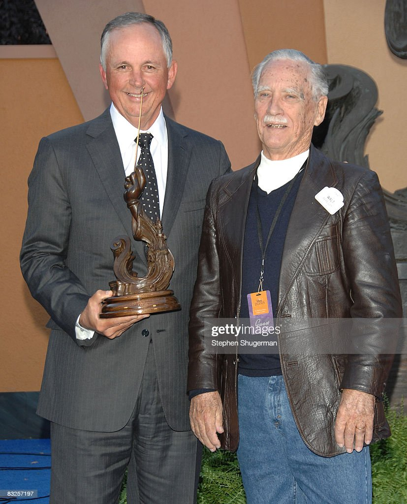 Chairman of The Walt Disney Studios Dick Cook (L) and Disney Legend Honoree Walt Peregoy attend the 2008 Disney Legends Ceremony at the Walt Disney Studios on October 13, 2008 in Burbank, California.