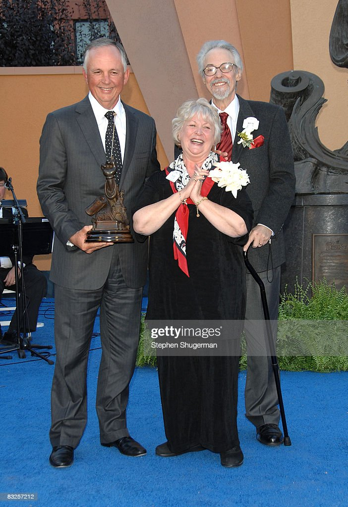 Chairman of The Walt Disney Studios Dick Cook, Disney Legend Honoree Russi Taylor and her husband Disney Legend Honoree Wayne Allwine attend the 2008 Disney Legends Ceremony at the Walt Disney Studios on October 13, 2008 in Burbank, California.