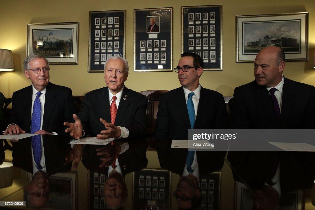 Senate Finance Committee Members And Treasury Secretary Mnuchin Discuss Tax Reform On Capitol Hill