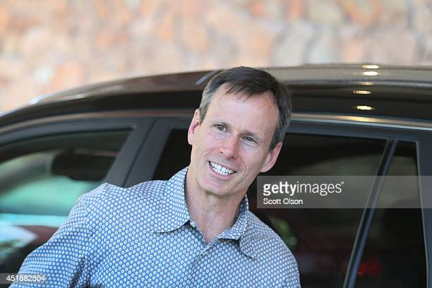 Chairman of Walt Disney Parks and Resorts Tom Staggs arrives at the Sun Valley Lodge for the Allen Co Media and Technology Conference on July 8 2014...