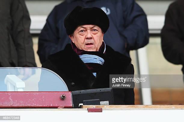 Chairman of West Ham United David Sullivan looks on before the Barclays Premier League match between West Ham United and Newcastle United at the...
