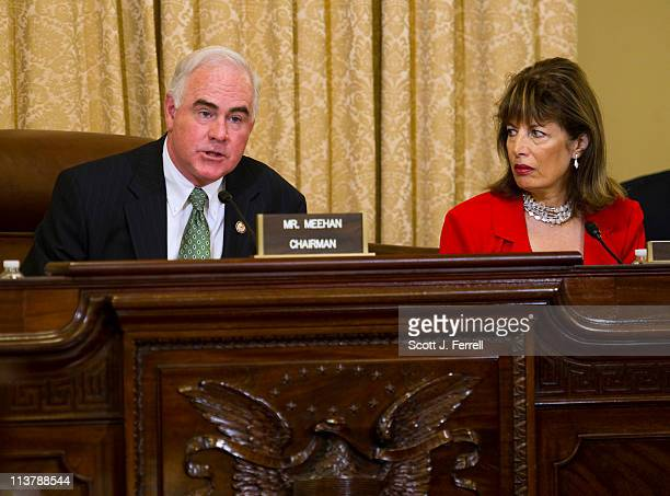 Chairman Patrick Meehan RPa and ranking member Jackie Speier DCalif during the House Homeland Security Subcommittee on Counterterrorism and...