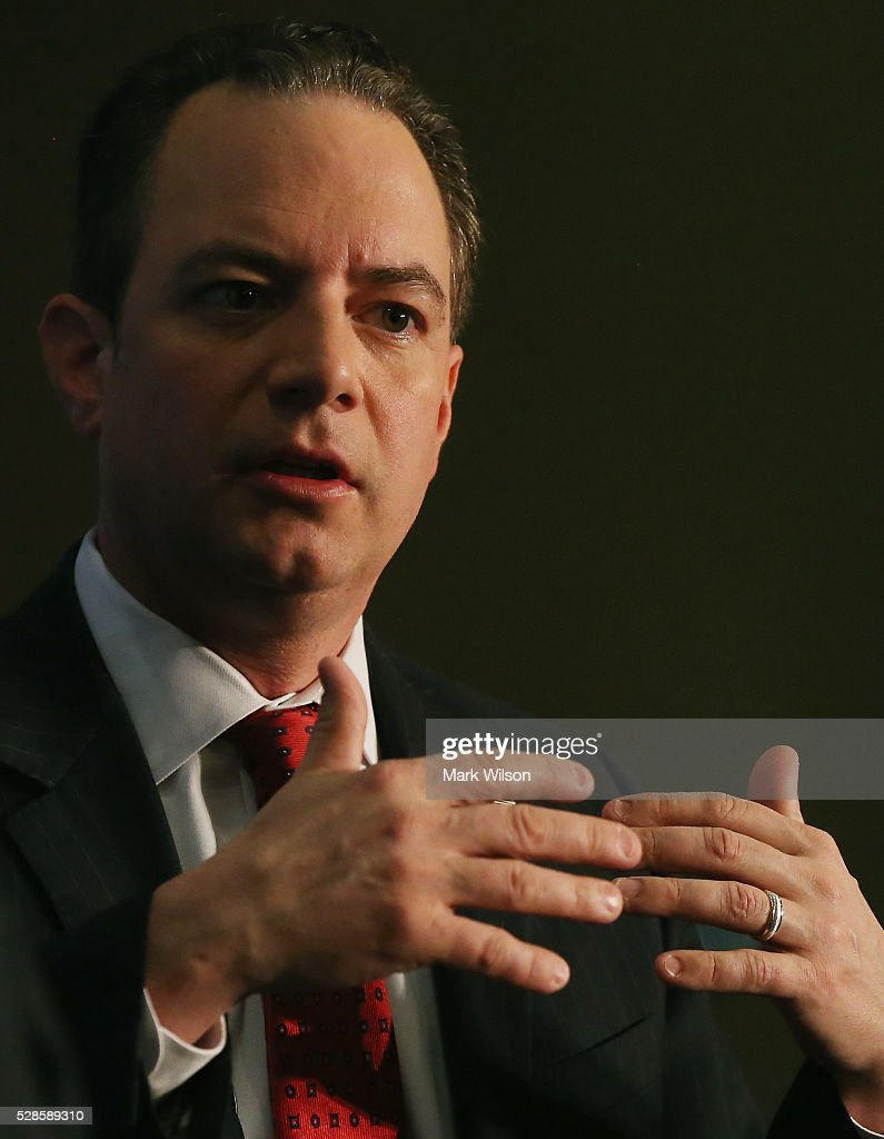 Chairman Reince Priebus participates in a Politico Playbook breakfast forum, May 6, 2016 in Washington, DC.