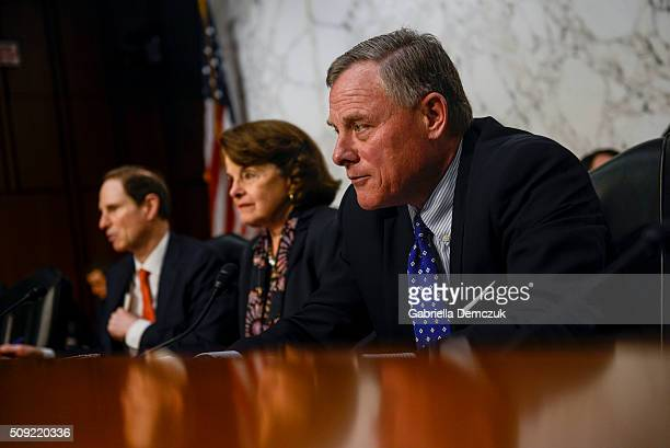 WASHINGTON DC FEBRUARY Chairman Richard Burr gives his opening remarks during the Senate Intelligence Committee hearing at the Hart Senate Building...