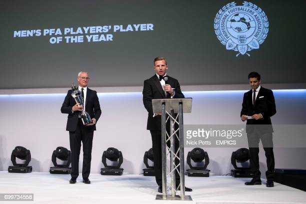 PFA Chairman Ritchie Humphreys presents the Men's PFA Players' Player of the Year award