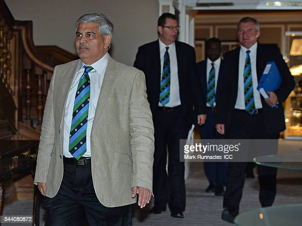 Chairman Shashank Manohar arrives at a meeting of the ICC Board at The Waldorf Astoria The Caledonian on July 1 2016 in Edinburgh Scotland