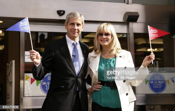 MS Chairman Sir Stuart Rose and model Twiggy celebrate the store's 125th birthday with the opening of the Original Penny Bazaar at the company's...
