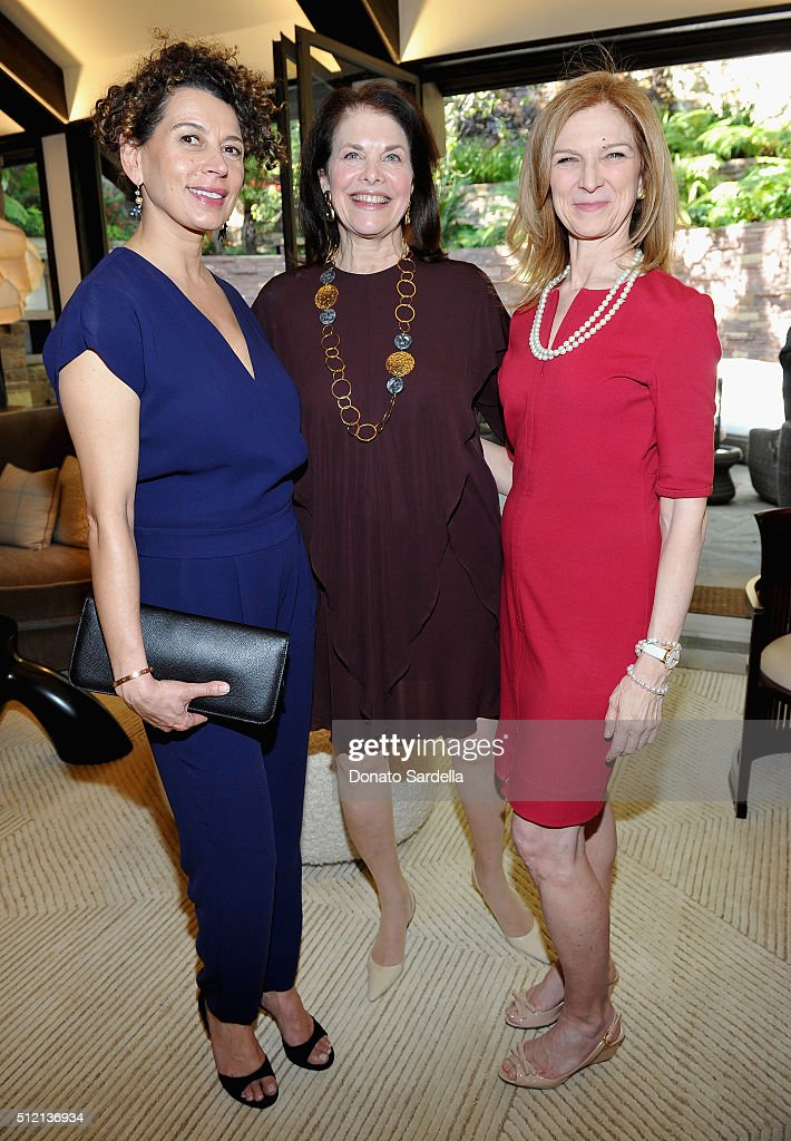 Chairman, Universal Pictures, Donna Langley, President & Founder, Sherry Lansing Foundation, Sherry Lansing and CEO, AMPAS, Dawn Hudson attend the 3rd Annual DVF Oscar Luncheon honoring the female nominees of the 88th Academy Awards on February 24, 2016 in Beverly Hills, United States.