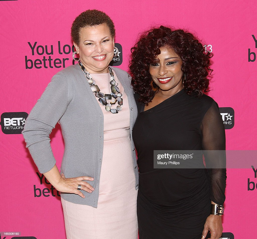 Chairman/CEO of BET Networks and Chaka Khan attend BET Networks 2013 Los Angeles Upfront at Montage Beverly Hills on April 2, 2013 in Beverly Hills, California.