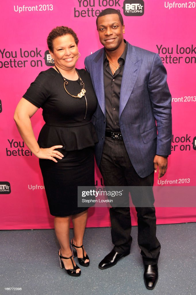 Chairman/CEO of BET Networks Debra Lee (L) and actor <a gi-track='captionPersonalityLinkClicked' href=/galleries/search?phrase=Chris+Tucker&family=editorial&specificpeople=203254 ng-click='$event.stopPropagation()'>Chris Tucker</a> attend the BET Networks 2013 New York Upfront on April 16, 2013 in New York City.