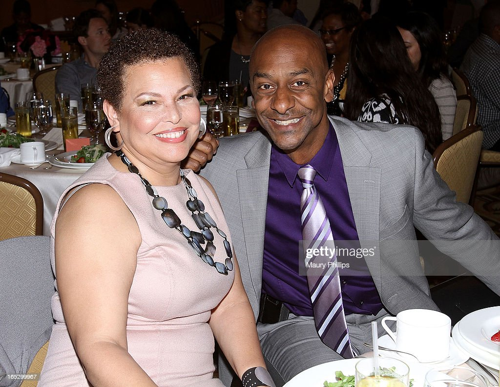Chairman/CEO of BET Networks Debra Lee and President of Music Programming BET Networks Stephen Hill attend BET Networks 2013 Los Angeles Upfront at Montage Beverly Hills on April 2, 2013 in Beverly Hills, California.