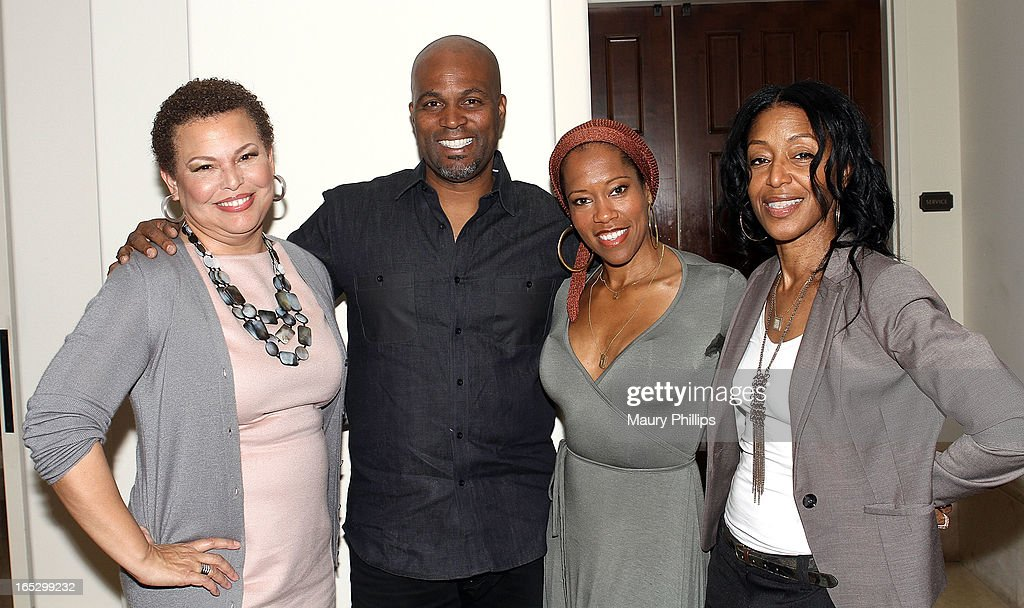 Chairman/CEO of BET Networks Debra Lee comedian Chris Spencer actress Regina King and Vice President of Talent and Casting Original Programming Robi...