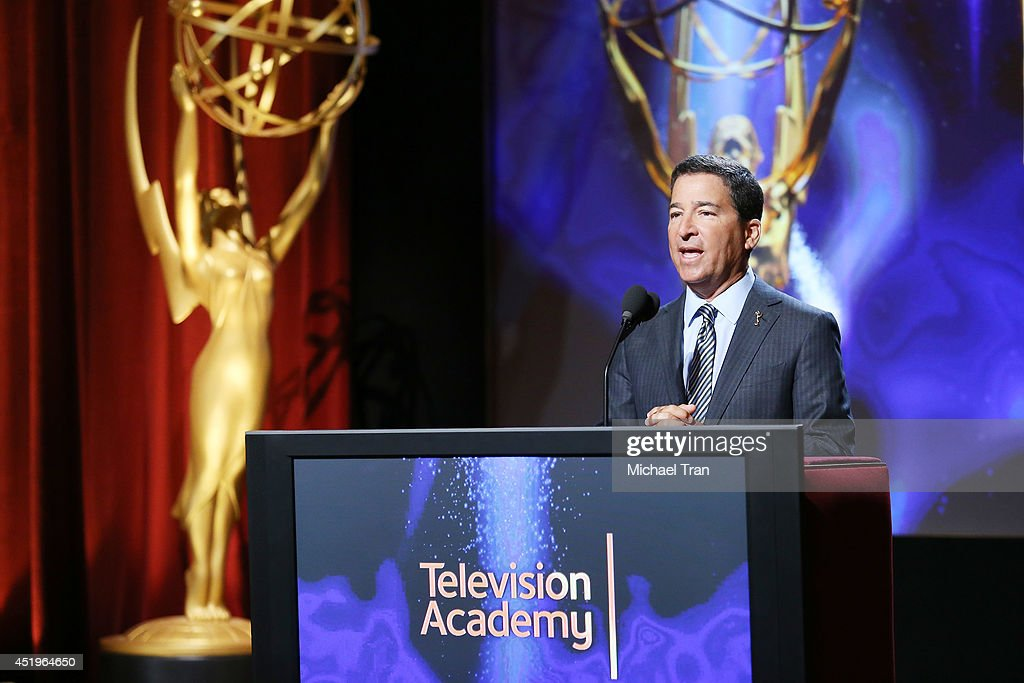 Chairman/CEO, Television Academy, Bruce Rosenblum speaks at the 66th Primetime Emmy Awards nominations held at Leonard H. Goldenson Theatre on July 10, 2014 in North Hollywood, California.