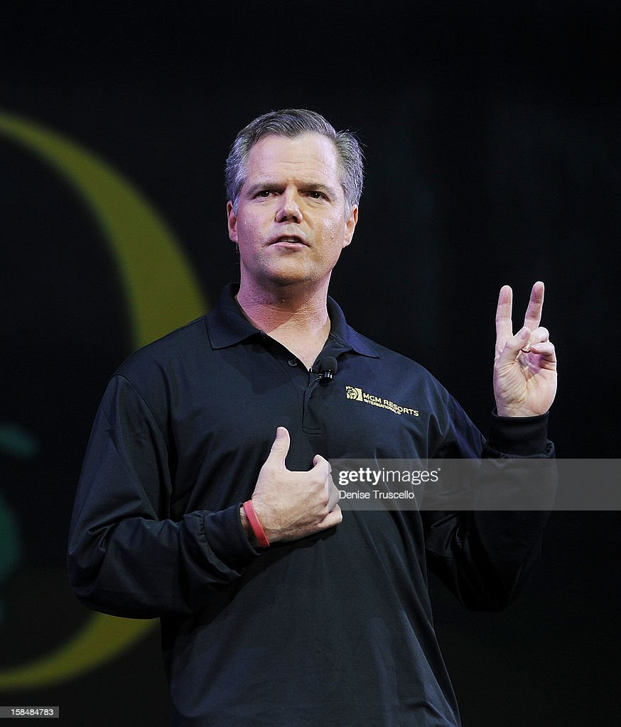 Chairmand and CEO MGM Resorts International Jim Murren during MGM Resorts International presentation of 'Inspiring Our World' at Mandalay Bay on December 17, 2012 in Las Vegas, Nevada.