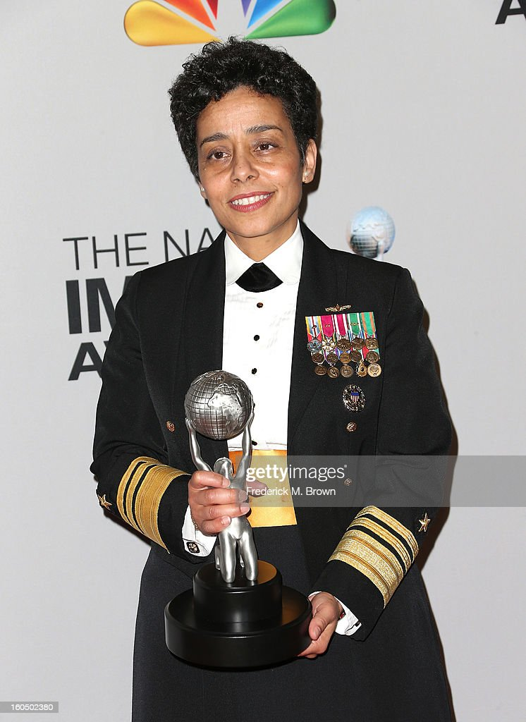 Chairman's Award honoree United States Navy Vice Admiral Michelle Janine Howard poses in the press room during the 44th NAACP Image Awards at The Shrine Auditorium on February 1, 2013 in Los Angeles, California.
