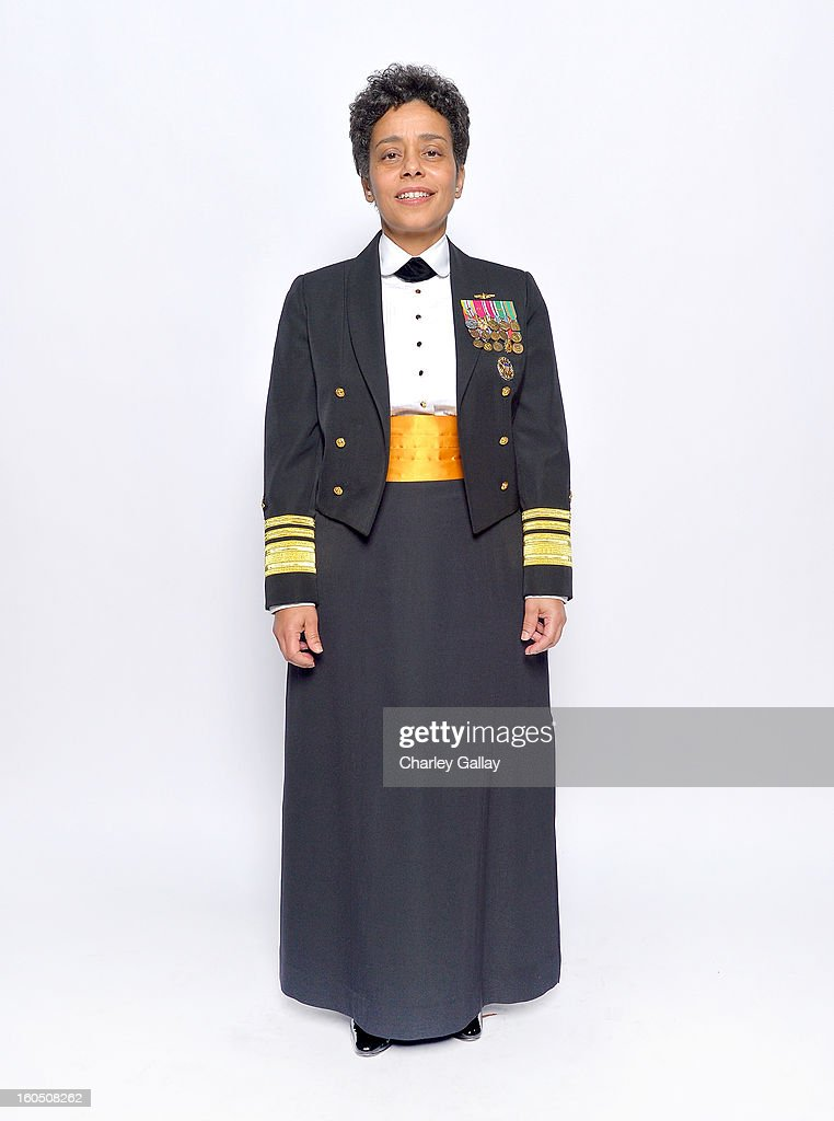 Chairman's Award honoree United States Navy Vice Admiral Michelle Janine Howard pose for a portrait during the 44th NAACP Image Awards at The Shrine Auditorium on February 1, 2013 in Los Angeles, California.