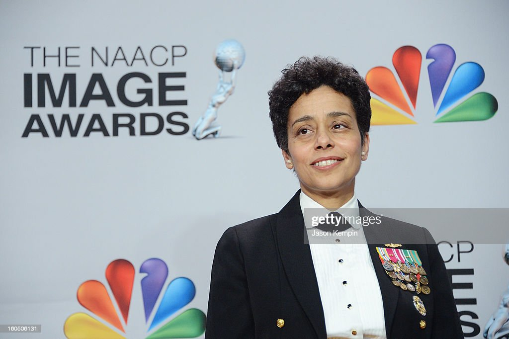 Chairman's Award winner Vice Admiral Michelle Howard poses in the press room during the 44th NAACP Image Awards at The Shrine Auditorium on February 1, 2013 in Los Angeles, California.