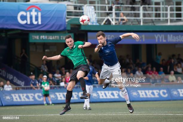 Chairman's Select's Richard Matow competes with Yau Yee League Masters Gorka GarciaTapia for a ball during their Masters Tournament match part of the...