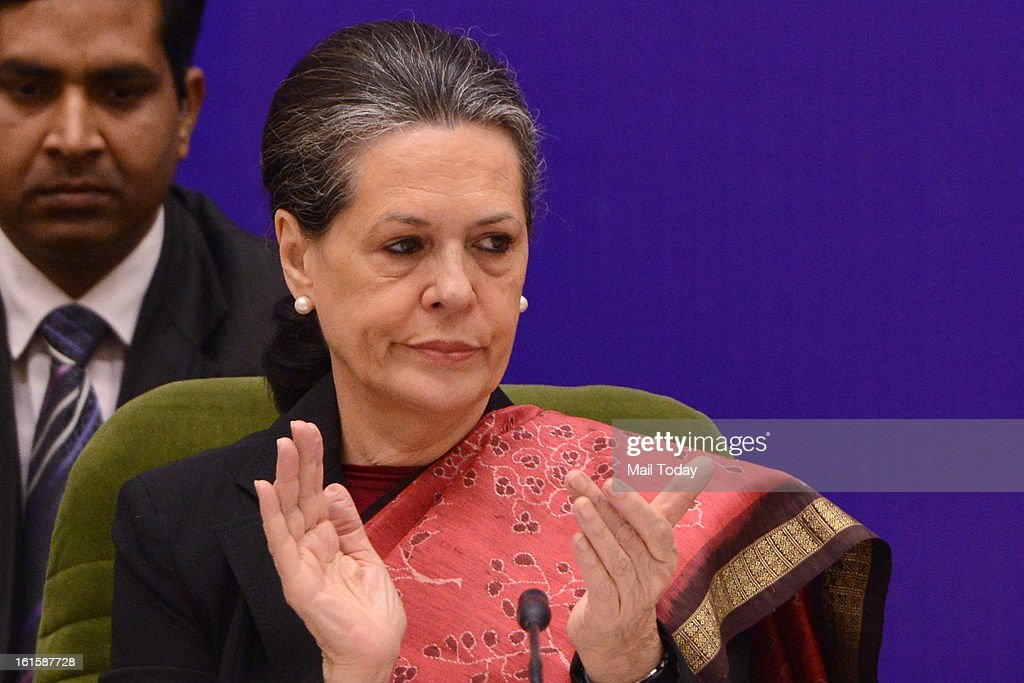 Chairperson of National Advisory Council (NAC) Sonia Gandhi during the inauguration of South Asian Autism Network (SAAN) Conference in New Delhi on Monday.